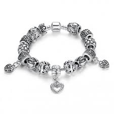 silver charm bead bracelet images European style bracelet with tibet silver charms jpg