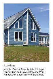 gentek my design home studio sequoia select siding in coastal blue vinyl siding pinterest
