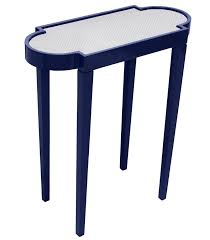 Navy Side Table Mini Rectangular Lacquer Side Table Navy Blue 16 Colors