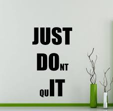 just do it wall decal fitness gym motivational quote vinyl zoom