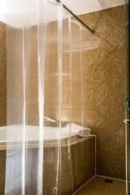Environmentally Friendly Shower Curtain Caitlin White Clear Peva Shower Curtain Liner