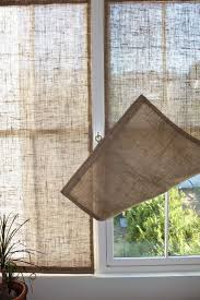 Smocked Burlap Curtains Window Panels Frames Best Burlap Drapes Ideas On Pinterest
