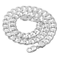 silver bracelet chains images 925 sterling silver italian crafted 11mm beveled cuban jpg