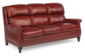 Leather Sofa With Studs flexsteel latitudes sting ray transitional sofa with wide flared