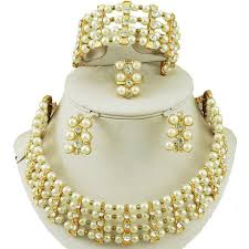 wedding bead necklace images African beads jewelry sets new designs wedding bead jewelry sets jpg