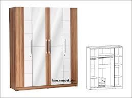 Cermin Rp partikel knockdown system size 1585x510x1950 lemari 4 pintu