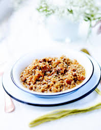 cuisine girolles risotto de petit épeautre aux girolles de printemps pour 4