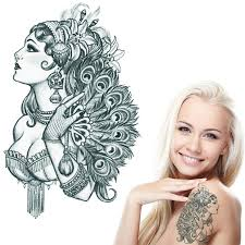 noble feminine tattoos water transfer paper temporary tattoos for