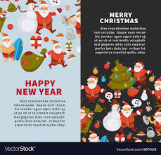 happy new years posters merry christmas and happy new year posters vector image