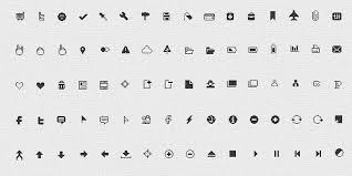 Glyph Symbol - 20 glyph symbols and minimalist icon packs designmodo