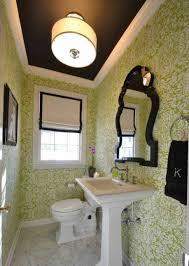 guest bathroom ideas decor guest bathroom ideas with wallpaper and semi flush mount lighting