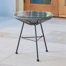 Metal Patio Side Table Outdoor Coffee Side Tables For Less Overstock