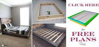 easy diy platform bed free plan home design garden