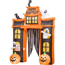 10 u0027 tall airblown halloween inflatable haunted house and archway