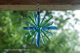 fused glass blue and green star suncatcher to delight the star
