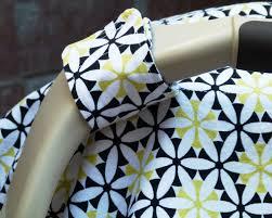 black green yellow star flower geometric baby car seat canopy