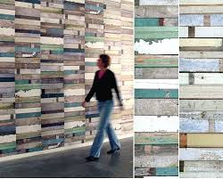 sloophout scrap wood wallpaper apartment therapy