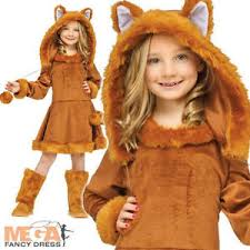 sweet fox girls fancy dress animal world book day character childs