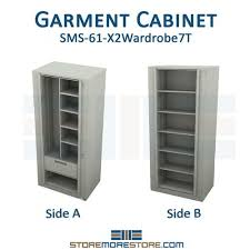 times 2 revolving storage cabinet with coat hook two sided