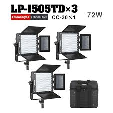Led Photography Lights Falcon Eyes 3xlot 72w Led Panel Photography Video Light Panel