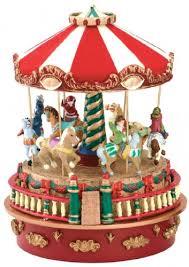 Mr Christmas Ornament - amazon com mr christmas mini carnival music box carousel home