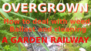 overgrown garden railway how to deal with weed ballast and