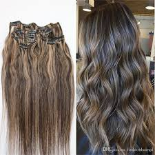 clip in human hair extensions highlight clip in human hair extensions brown with