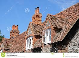 hambledon cottage dormers stock photo image 59208522