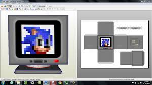 Sonic The Hedgehog Papercraft - papercraft pdo file template for sonic the hedgehog item box w