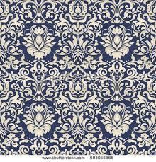seamless damask wallpaper seamless vintage pattern stock vector