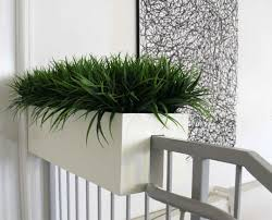 painted white color small modern hanging garden planter boxes for