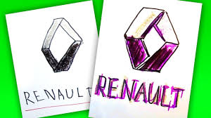 logo renault how to draw renault logo auto logo car youtube