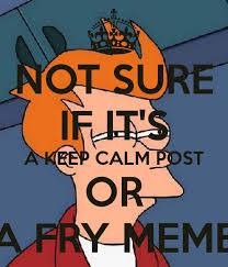 Fry Not Sure Meme - not sure if it s a keep calm post or a fry meme poster delfin
