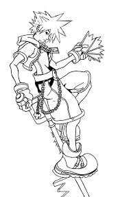 kingdom hearts outline coloring pages funny coloring