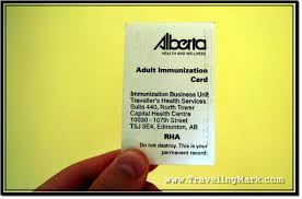 photo alberta travel immunizations card for adults contains records