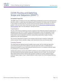 ccna routing and switching scope and sequence pdf cisco