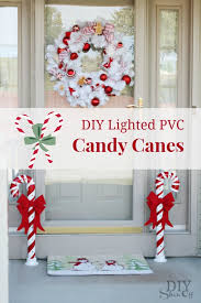 Home Decor Show Lighted Pvc Candy Canes Diy Christmas Home Decor Diy Show Off