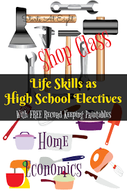 Free Independent Living Skills Worksheets Life Skills As High Electives Home Economics U0026 Shop Class