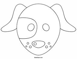 printable dog mask