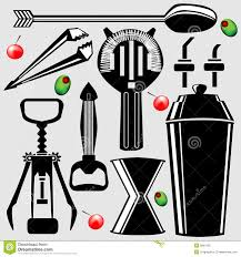 martini shaker clipart bar tools in vector silhouette royalty free stock image image