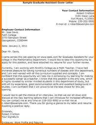 cover letter for graduate assistantship free graduate assistant