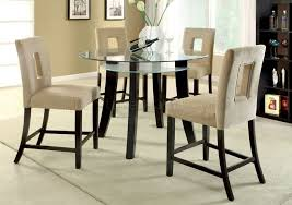 glass counter height table sets round glass counter height dining table dining room ideas