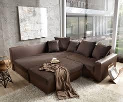 breites sofa sofa lavello dunkelbraun 210x210 inklusive hocker ottomane links