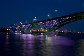 Bay Bridge Lights Wallpaper Peace Bridge City Bay Bridge Night Lights Hdr Hd