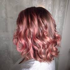 pink highlighted hair over 50 peach hair with pink highlights haircut styles pinterest