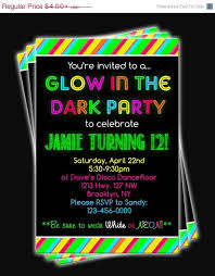 glow in the dark l glow in the dark party invitations glow in the dark party