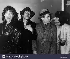 the rolling stones pop group in coats 1986 mick jagger keith