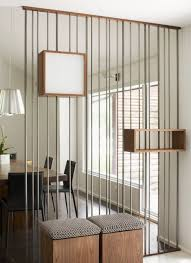 interior great home interior design with metal wall room divider