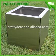 Square Metal Planter by Square Flower Pots Metal Flower Pots Garden Stainless Steel