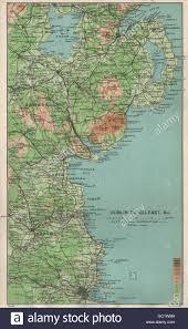 Map East Coast Ireland East Coast Dublin To Belfast Armagh Down Louth Meath